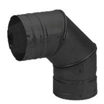 4 Inch Pellet 90 Degree Elbow Black Pvp
